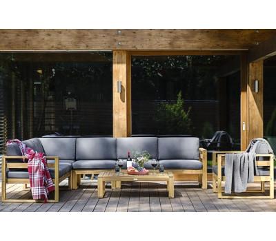 Лаунж зона BOOKA с кофейным столом из дерева