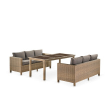 Обеденный комплект с диванами T365/S65B-W65 Light Brown