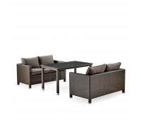 Обеденный комплект с диванами T256A/S59A-W53 Brown