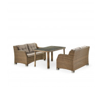 Обеденный комплект с диванами T51B/S51B-W65 Light brown