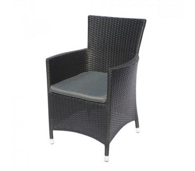 Кресло Y189D Black из искусственного ротанга