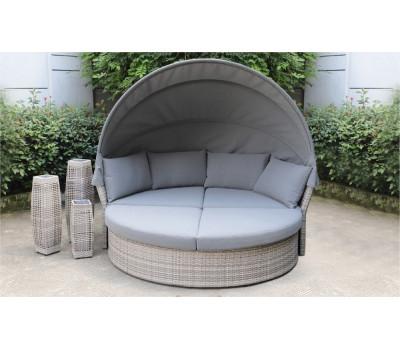 Кровать AFM-325G Grey из искусственного ротанга