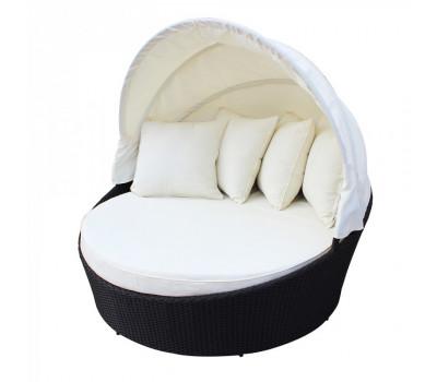 Кровать КМ-0099 из искусственного ротанга