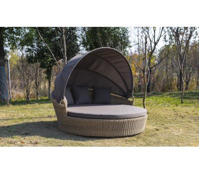 Круглая кровать Стильяно из искусственного ротанга