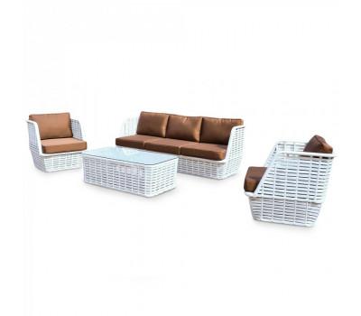 Комплект плетеной мебели KM-0046 из искусственного ротанга