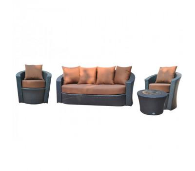 Комплект плетеной мебели KM-0061 из искусственного ротанга