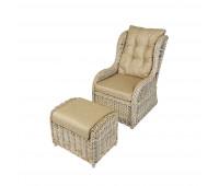 Кресло с подставкой для ног KM-2000