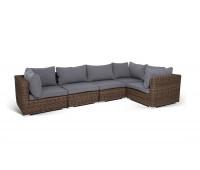 Модульный диван Лунго коричневый