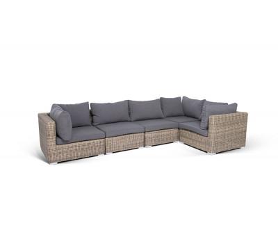 Модульный диван Лунго из искусственного ротанга