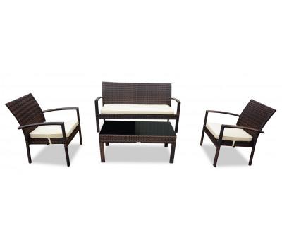 Комплект плетеной мебели Milano (Милано) коричневый из искусственного ротанга