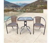 Комплект мебели Асоль-2A TLH-037AR2/060SR-60х60 Cappuccino (2+1)