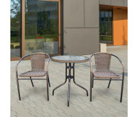 Комплект мебели Асоль-1A TLH-037AR2/060RR-D60 Cappuccino 2Pcs