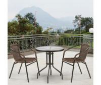 Комплект мебели Асоль-1C TLH-037B-R3/TLH060-D60 Brown 2Pcs