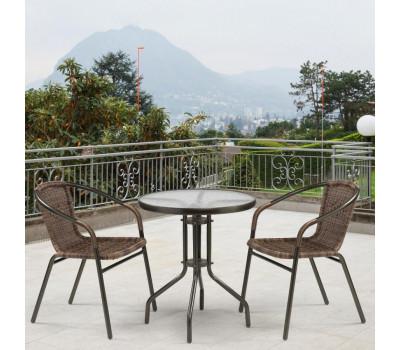 Комплект мебели Асоль-1C TLH-037B-R3/TLH060-D60 Brown 2Pcs из искусственного ротанга