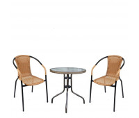 Комплект мебели Асоль-2LB TLH-037С-TLH060SR-D60 Light Beige (2+1)