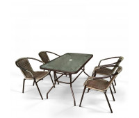 Комплект мебели Николь-3B CDC01/CDT016-120х70 Brown (4+1)