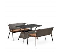 Обеденный комплект с диванами T198D/S139B-W53 Brown
