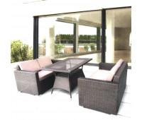Обеденный комплект с диванами T198A/AFM-215B-W53 Brown