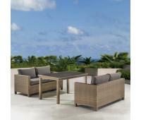 Обеденный комплект с диванами T256B/S59B-W65 Light brown