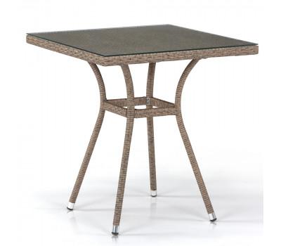 Стол T282BNT-W56-70x70 Light Brown из искусственного ротанга