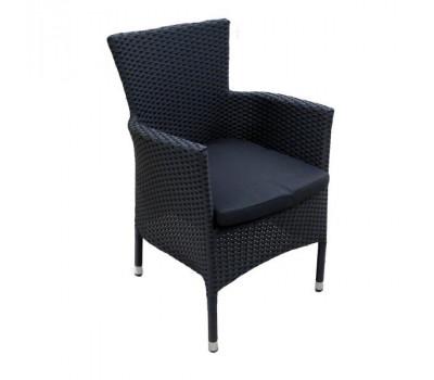 Кресло Aroma черное из искусственного ротанга