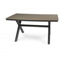 Алюминиевый стол Aroma коричневый