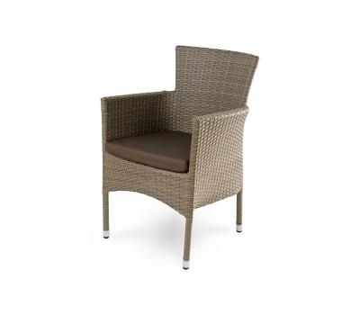 Кресло Aroma светло-коричневое из искусственного ротанга