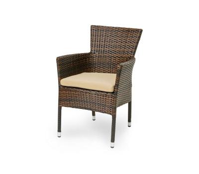 Кресло Aroma темно-коричневое из искусственного ротанга