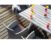 Алюминиевый стол Aroma светло-серый