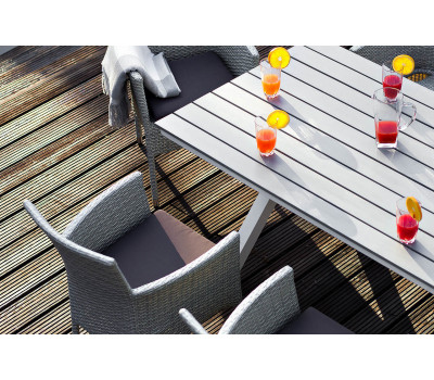 Алюминиевый стол Aroma (Арома) светло-серый Joygarden