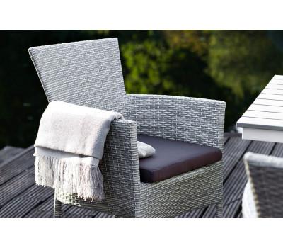Плетеные стулья из искусственного ротанга. Кресло Aroma (Арома) светло-серое