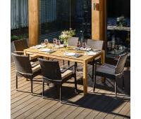 Обеденный комплект AURA 170 см на 6 персон со стульями