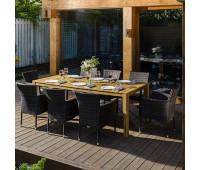 Обеденный комплект AURA 215 см на 8 персон с креслами