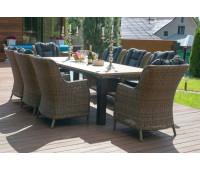 Обеденная группа со столом Парклэнд и креслами Бергамо 8 шт