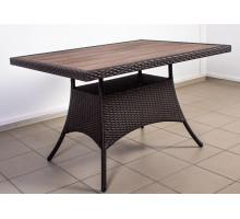 Плетеный стол Кипр доска