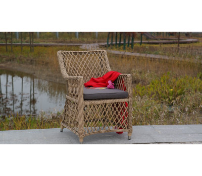 Плетеные стулья из искусственного ротанга. Кресло Латте