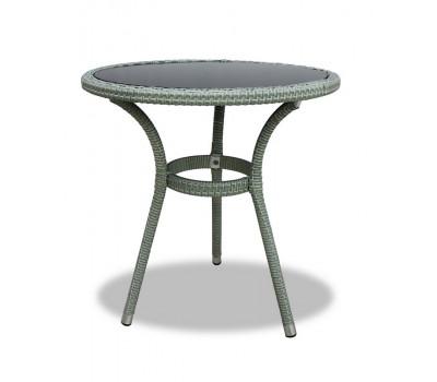 Стол Lotus серый 70 см из искусственного ротанга