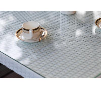 Стол Milano белый из искусственного ротанга