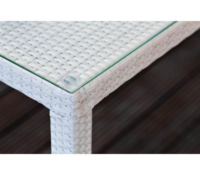 Стол Milano (Милано) 150 см белый из искусственного ротанга