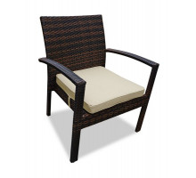 Плетеное кресло Milano (Милано) коричневое