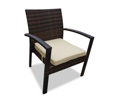 Кресло Milano коричневое из искусственного ротанга