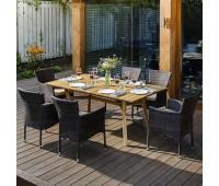 Обеденный комплект MODENA 180 см на 6 персон с креслами