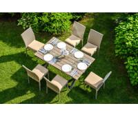 Обеденный комплект Rome с банкетными стульями