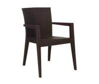 Пластиковый стул Montana темно-коричневый