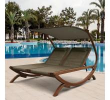 Двухместный шезлонг-лежак Мальта AFM 510 Olive