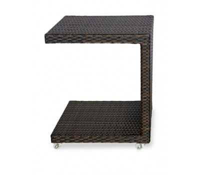 Кофейный стол Milano коричневый из искусственного ротанга