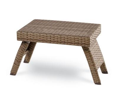 Плетеные шезлонги из искусственного ротанга. Плетеный столик Summer