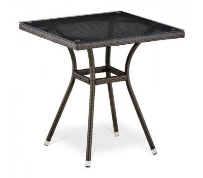 Стол T282BNS-W53-70x70 Brown из искусственного ротанга