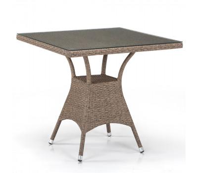 Стол T197BT-W56-80x80 Light brown из искусственного ротанга