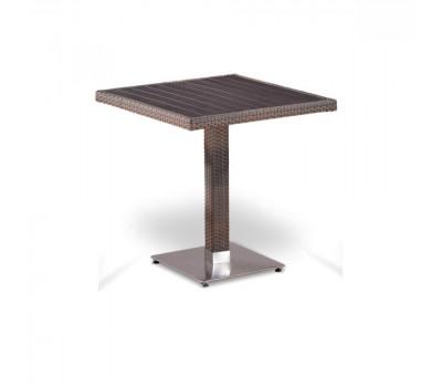 Стол T502DG-W1289-70х70 Pale из искусственного ротанга